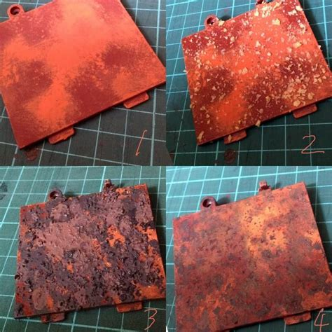 weathering technique hairspray tortilla rust guide