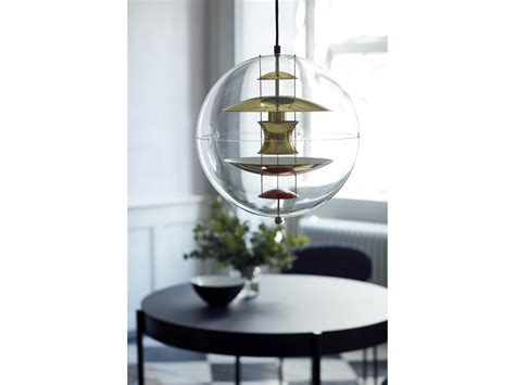 Verpan Vp Globe Brass Pendant Light By Verner Panton