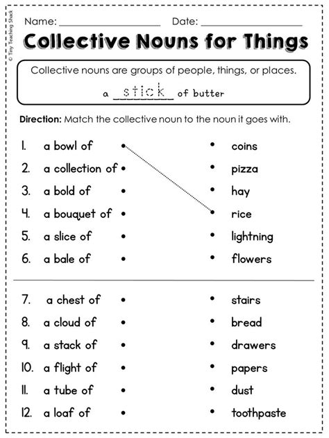 25 best ideas about collective nouns worksheet on