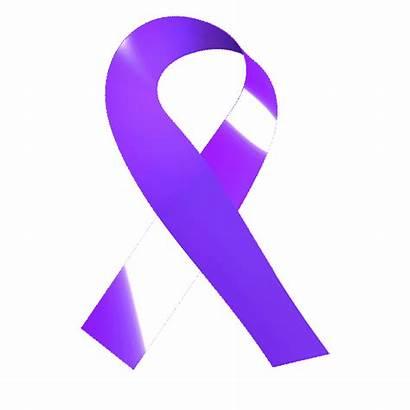 Ribbon Attn Sticker Support Awareness Purple Month