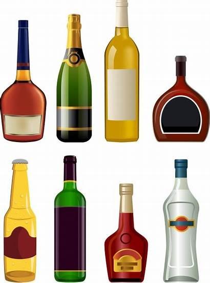 Bottle Liquor Bottles Vector Clipart Wine Champagne