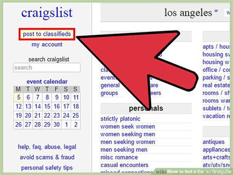 How To Sell A Car On Craigslist 14 Steps (with Pictures