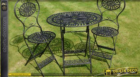 table de salon de jardin en fer forge salon de jardin en fer forg 233 3 pi 232 ces