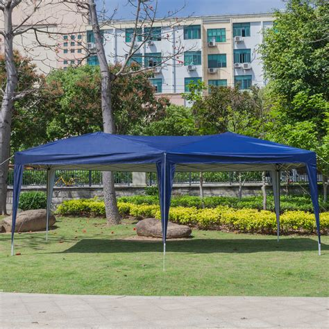 outdoor ez pop  wedding party tent folding gazebo canopy heavy duty carry case blue