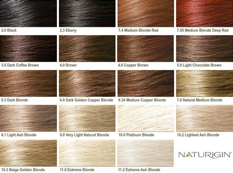 Hair Colour Chart by Organic Hair Colours Are The Secret That Saves You