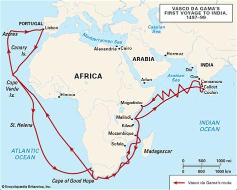 Route Vasco Da Gama by Vasco Da Gama Britannica Homework Help