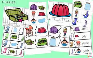 letter j worksheets activities fun with mama With 3 letter word building puzzles