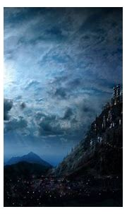Harry Potter #Artistic #Blue #Castle #Fantasy Hogwarts ...
