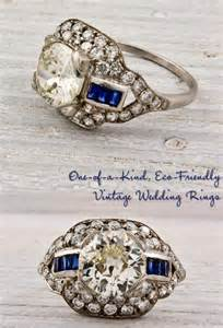 vintage sapphire wedding bands finds vintage engagement rings and wedding bands onewed