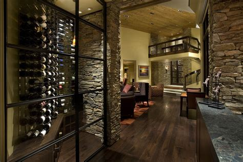 metal wine wall decor wine cellar contemporary with floor recessed lighting wood ceiling