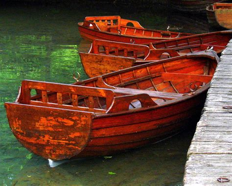 wooden rowboats photograph  ramona johnston