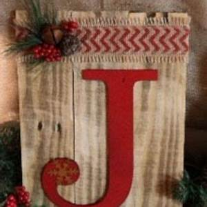 Rustic Repurposed Pallet Wood Christmas Joy Holiday Red