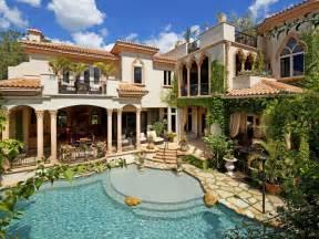 Stunning Mediterranean House Plans With Pools opulent siesta key mediterranean in florida united states