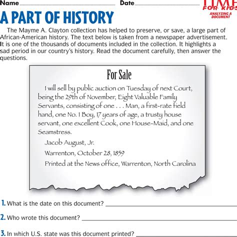 free printable black history month worksheets worksheets