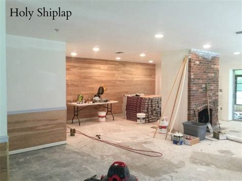 covering wallpaper  faux shiplap sawdust  stitches