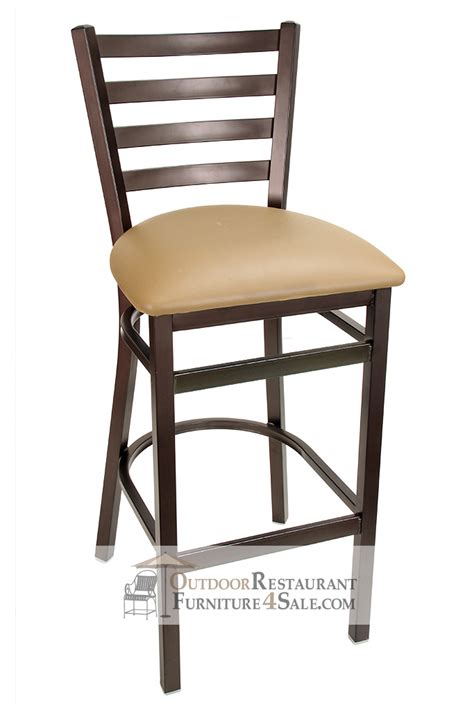gladiator rustic brown ladder back bar stool w choice of seat
