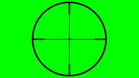 sniper scope crosshair hd transparent footage youtube