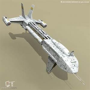 Spaceship 3D Model OBJ 3DS FBX C4D DXF DAE - CGTrader.com