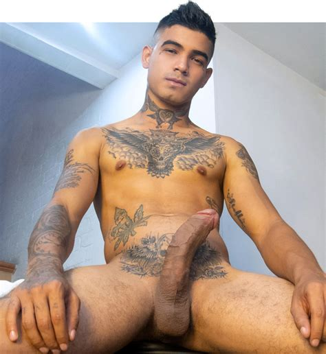 Tatted Hung Twink Jacob From LatinBoyz