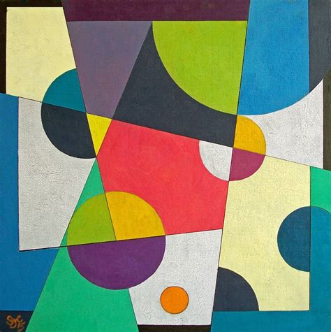Abstract Painting Using Shapes by Saatchi Artist Stephen Conroy Acrylic 2015 Painting