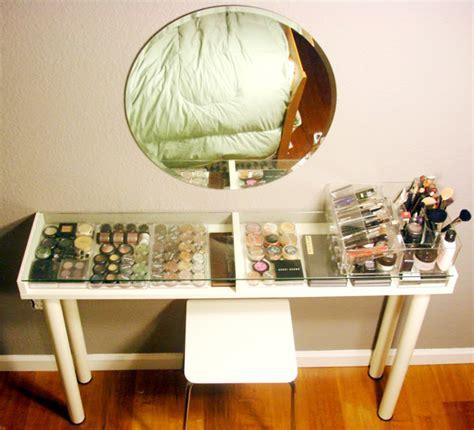 vanity table ikea hack list of lusts makeup storage beautyholics anonymous
