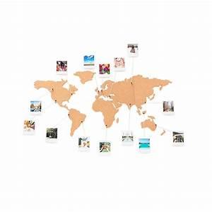 Carte Du Monde En Liège : carte du monde en li ge coller au mur planisph re cork ~ Melissatoandfro.com Idées de Décoration