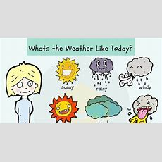 Weather Vocabulary Useful Weather Words & Terms  7 E S L