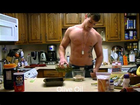 Shirtless Chef Cooking For Six Pack Abs - Healthy Protein