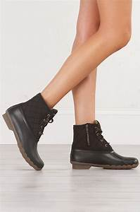 Ammo Size Chart Sperry Waterproof And Rubber Lace Up Duck Boots In Black