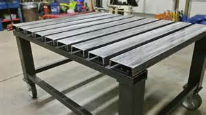 Metal Shop Bench by Welding Table Plans Good Welding Table Design Archive