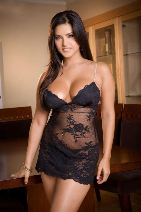Beautiful Images Sunnyleone Black Transparent Short Skirt Beautiful Lingerie Curvy Woman Women