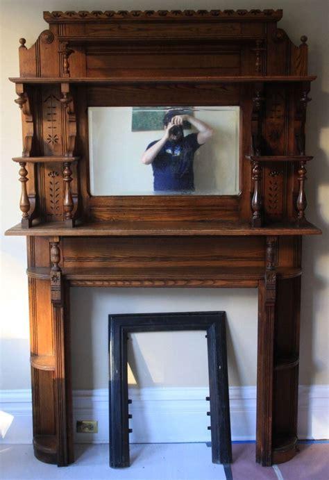 antique ornate wood fireplace surround ebay wood