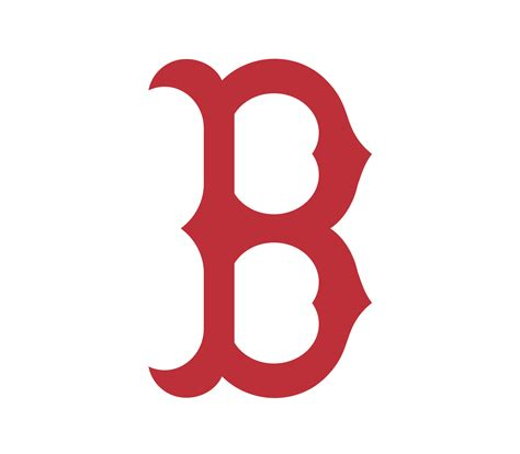 Boston Red Sox B Logo Vector Real Clipart And Vector