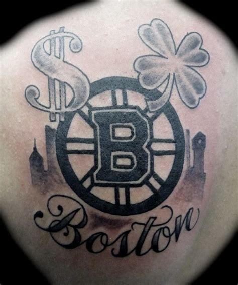 boston bruins logo  shamrock  dollar sign tattoo