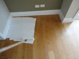 How to paint a wooden floor white before and after for How to varnish parquet flooring