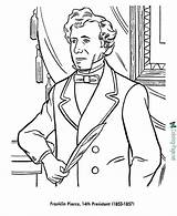 Coloring Pages Franklin Pierce Presidents President Printable Odyssey Sheets American Usa Printables Print List Adventures Patriotic States United History Presidential sketch template