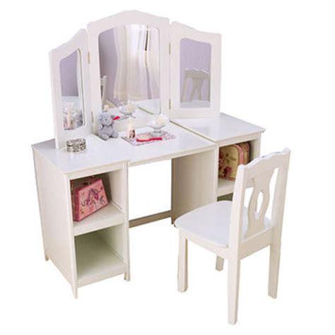 Kidkraft Deluxe Vanity Table With Chair Kidkraft Deluxe Vanity And Chair White From Fao