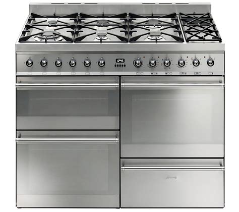 smeg gas range cookers buy smeg symphony 110 dual fuel range cooker stainless steel free delivery currys