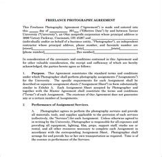 event photography contract template    camera