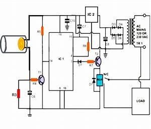 laser beam light activated remote control circuit With control circuit