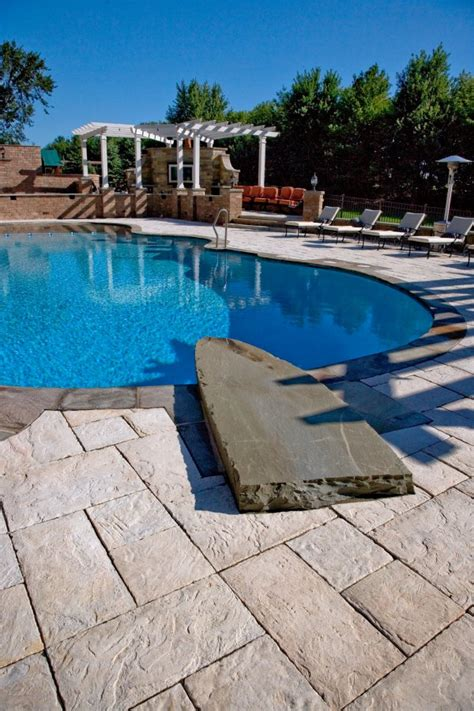 unilock yorkstone unilock pool deck and patio with yorkstone paver photos