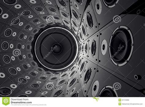 wall  speakers stock illustration illustration