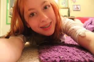 Young Teen Girl Braces Selfie