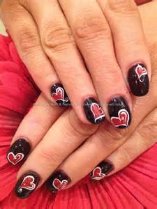 Eye candy nails training acrylic with red and
