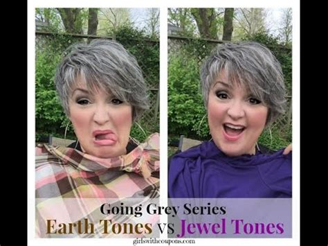 what colors should i wear going grey series what colors should i wear with silver