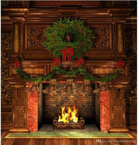 Backdrop With Fireplace by 10x10ft Digital Backdrops Vintage Furniture
