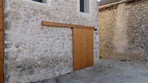 porte coulissante bois boutique du menuisier With porte de garage coulissante de plus porte exterieur