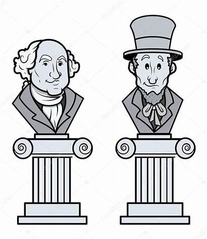 Lincoln Clipart Abraham Sculpture Washington George Clip