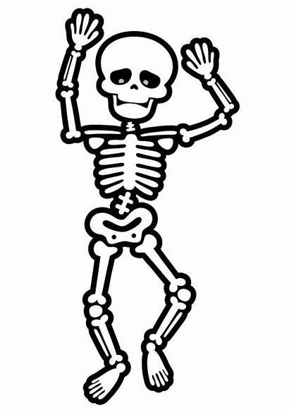 Coloring Skeleton Pages Dancing Halloween Skeletons Printable