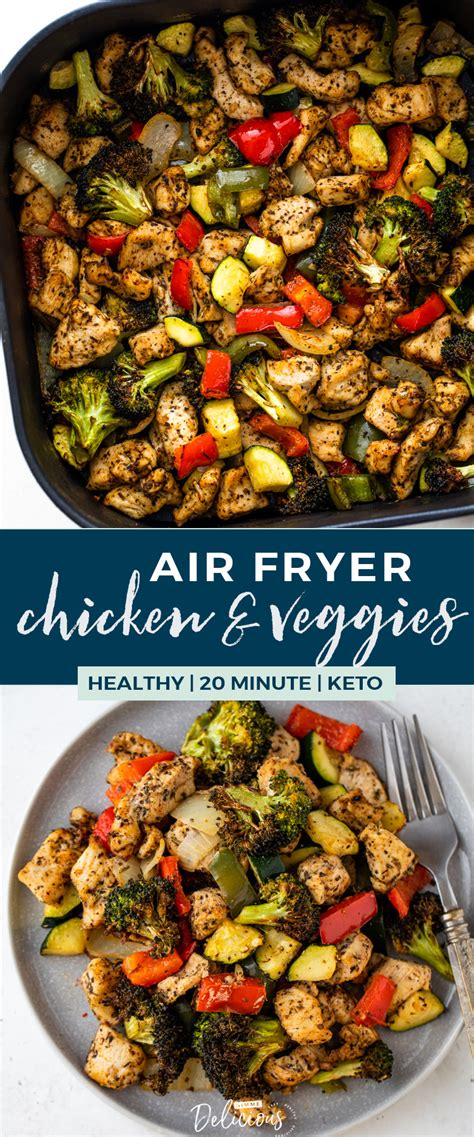 fryer air healthy chicken recipes veggies dinner carb low recipe easy meal pan sheet delicious under gimmedelicious gimme dinners keto